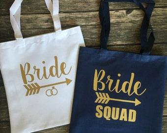 Bride / Bride Squad Tote Bags  - Bridesmaid / Bachelorette