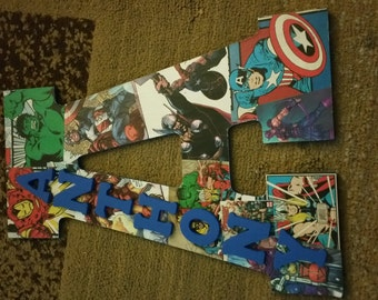 13in custom Avengers letter with name