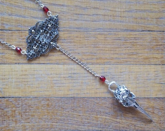 Red birdie necklace