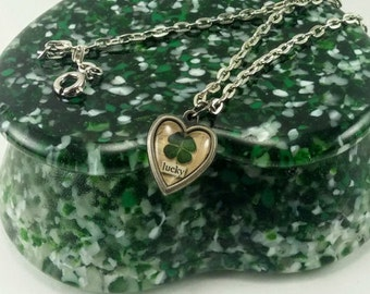 Lucky Four Leaf Clover Charm Bracelet, Zipper Pull or Necklace - Your choice!