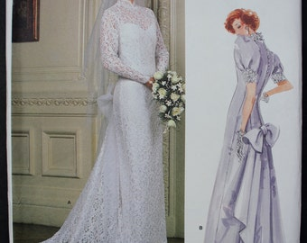 Vintage Vogue Bridal Original Gown Pattern - Size 14