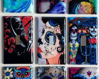 Light Switch Outlet Day of the Dead Themed Covers