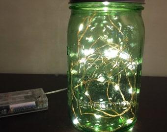 Mason Jar Firefly Lamp