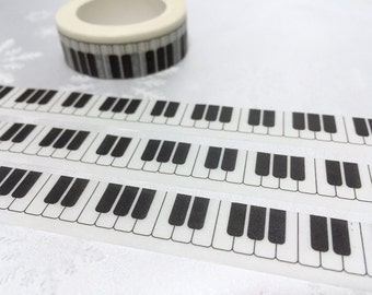 piano keys washi tape 10M x 1.5cm piano keyboard masking tape music theme piano sticker tape piano pattern planner sticker scrapbook gift