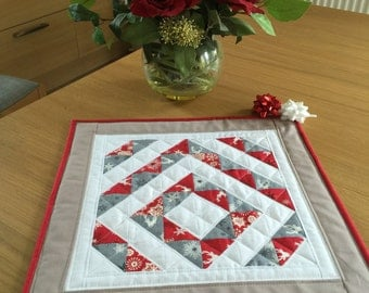 Christmas Table Topper, Quilted Table Topper, Scandi Table Runner, Modern Table Topper, Christmas Table Centrepiece, Stag Table Topper