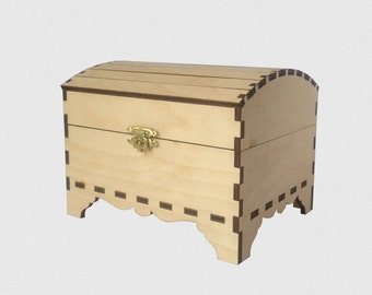 perfect unfinished wood trunk for further decoration wood shapes storage trunks coffers