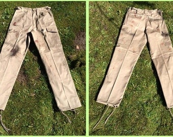 Cargo Trouser: Lara Croft Rise of the Tomb Raider Inspired Beige Stone Colour Clean or Weathered