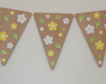 Wedding Bunting, Wedding Garland, Wedding, Engagement, Birthday Party Decoration, Summer Flowers, Buttercups and Daisies, Paper Party Decor