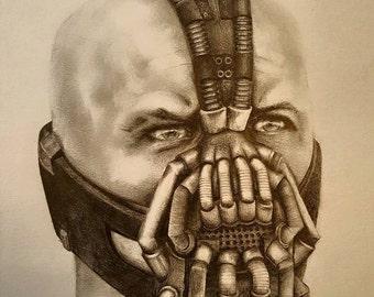 Original pencil drawing of Bane