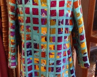Vintage Bill Blass for Maurice Rentner Velvet Floral Coat