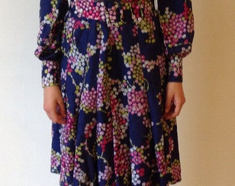 70s dress french floral