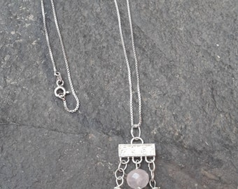 Rose Quartz & Fresh Water Pearl Necklace