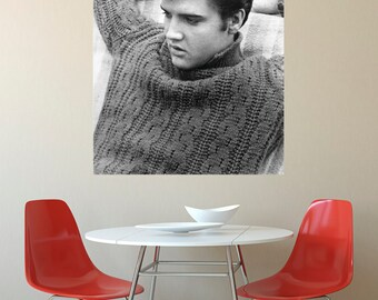 LARGE SIZE Elvis Presley Print / Elvis Poster / Elvis Photograph / Elvis Black and White Photo / Elvis Movie Poster