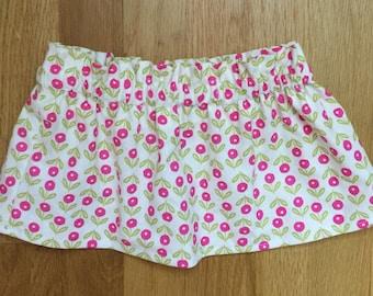 Baby girl flower skirt