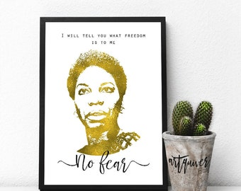 Inspirational posters, Nina Simone, Nina Simone quotes, famous quotes about life, motivational, Large Wall Art, framed ART, artsy quotes