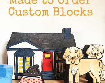Made to Order Custom Handmade Wooden Blocks