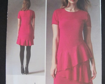 New Uncut Vogue American Designer Donna Karen Sewing Pattern 1383 Womans, Misses Dress, Sizes 6 8 10 12 14, Out of Print 2014 OOP