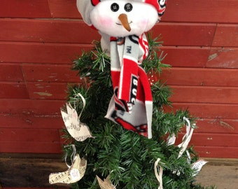 Ohio State Snowman Tree Topper