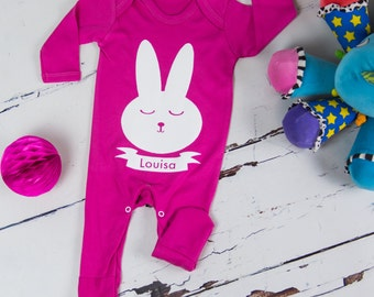 Personalized gifts for kids and your home by littlechook on etsy personalised easter babygroweaster giftbaby girlbaby boybaby gift negle Image collections