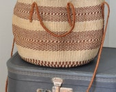 1970s Boho Woven Bag Medium Size Shoulder Strap