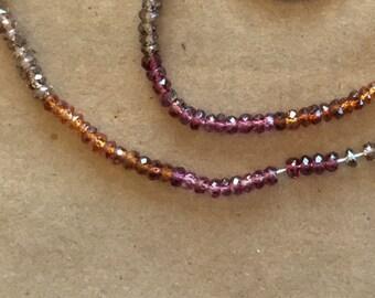 Tiny Tundra Garnet Rondelles  (Item # 5432)