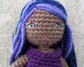 ON SALE  Small Crochet Doll, Dragonfly Doll, Amigurumi Doll, Crochet doll, Waldorf Doll, 8 inch Doll, Dress up doll, Barbie alternative
