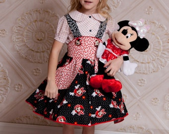 Minnie Mouse Outfit - Toddler Girl Dress - Disney Birthday Clothes - Little Girl Outfit - Disney Vacation Outfit - sizes 2T to 10 years