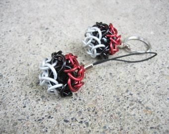 Poké Ball Inspired Chain Mail Key Chain or Zipper Pull