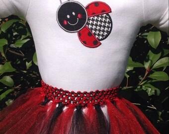 Ladybug Tutu Dress/Ladybug Red and Black Onesie Tutu Outfit/Ladybug Dress/Red and Black Ladybug Birthday Dress