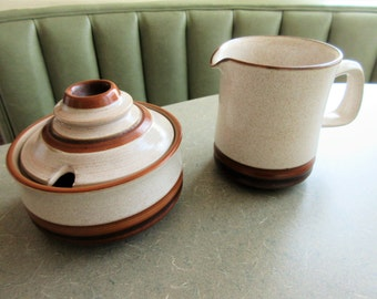 Vintage Denby Pottery Sugar and Creamer, Denby Sahara, Denby Milk Jug, Made in England, Denby Sugar Bowl, Stoneware, Denby Jug and Bowl