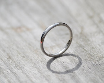 Platinum Wedding Band, Platinum Wedding Ring, 2mm wide or 3mm wide, simple wedding ring, ring for the bride, stackable ring made in UK