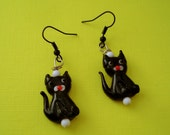Meows It Going Retro Inspired Tuxedo Cat Earrings by Red Hot Kitten