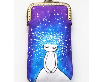 Hand painted Whimsical Sky Iphone case gadget case iPhone sleeve ( iPhone 6, iPhone 6 Plus, Samsung Galaxy S5 etc. )