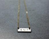 Bar Necklace - Initial Bar Necklace - 14K Goldfilled