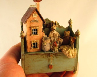 From *DJD* Tatty playbox,with toys and house.Available on commission.As a whole or in part.
