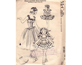 50s Full Skirt Dance Dress & Bloomers Pattern McCall's 2152 Size 14 Bust 34 inches UNCUT Factory Folded