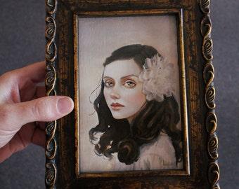 Sweet Resolve. Framed Original Oil Painting