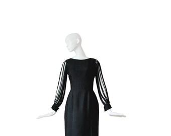 1960s Designer Dress VLV • 60s Bombshell Cocktail Dress •  M / L Medium / Large