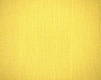1/2 YARD, CRINKLE CREPE, Sunshine Yellow, Fashion or Craft or Home Decor Fabric, Lightly Textured, Heavy Weight Cotton, B10