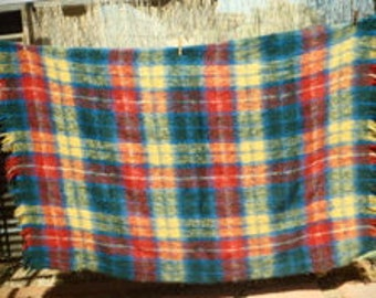 Excellent Quality Vintage 100% Mohair Blanket