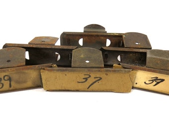 6 Metal General Store Price Display Clips, Vintage Mercantile Shop Price Clips, Industrial Hardware