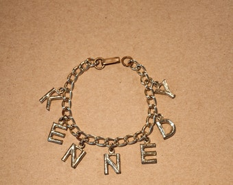 Antique Original Kennedy Charm Bracelet / From the 1960 Kennedy Campaign