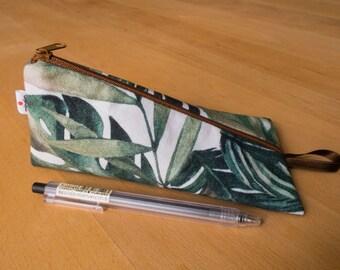 Palms - zipper pouch, pencil case, make up bag, wallet