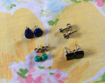 Post Earrings,  stud earrings, set of 4 stud earrings, small post earrings