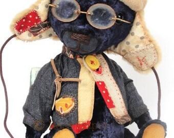 Hand made Collectable artist teddy bear stuffed animal OOAK Ksaveras