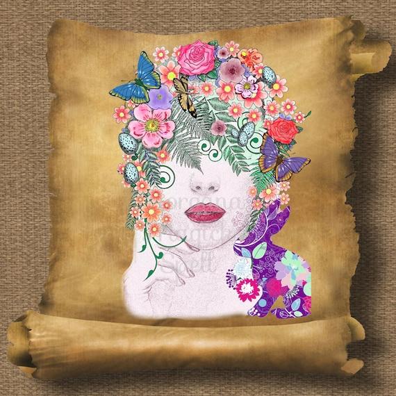 Goddess Ostara  Royalty Free Clip Art