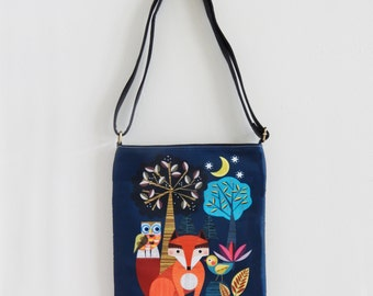 Little fox and friends, sling bag