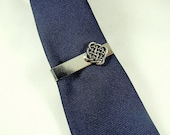 Tie Bar Tie Clip,  Silver Celtic Infinity Knot,  Mens Accessories Handmade