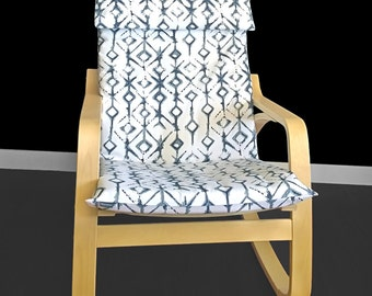 2017 IKEA POÄNG Cushion Seat Cover - Tribal Vintage Indigo