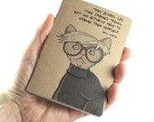 Artist Notebook, Andy Warhol Notebook, Andy Warhol Quote, Cat Notebook, Small Notebook